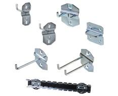 Basis Hakenset für Powerplustools Lochwand - Werkzeuglochwand Haken Set 7-teilig