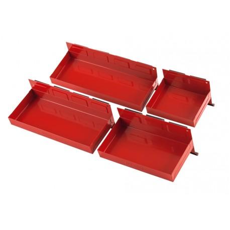 4 Werkzeug Ablagen Magnetisch ( Rot )