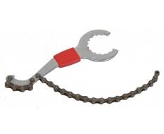 Tretlagerschlüssel mit Kettenpeitsche