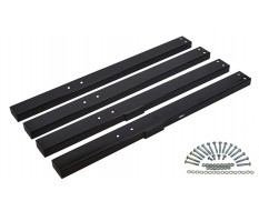Set extra lange Beine für Werkbank PP-T 0445S, 0446S und 0447S (Schwarz)