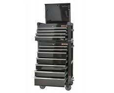 Werkstattwagen-Set schwarz De-Luxe 11 Schubladen mit Einzelarretierung