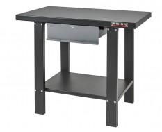 Werkbank Metall 100 x 64 x 86,5 cm. grau / anthrazit mit Metallplatte und 1 Schublade