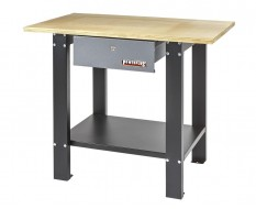 Werkbank Metall 100 x 64 x 86,5 cm. grau / anthrazit mit Multiplexplatte und 1 Schublade