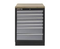 Werkbank aus Metall mit 7 Schubladen und Multiplexplatte 68 x 46 x 94,8 cm
