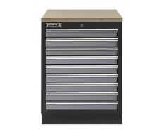Werkbank aus Metall mit 9 Schubladen und Multiplexplatte 68 x 46 x 94,8 cm