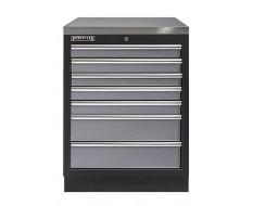 Werkbank aus Metall mit 7 Schubladen und Metallarbeitsplatte 68 x 46 x 94,8 cm