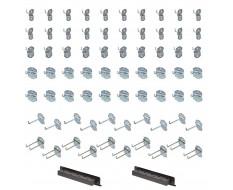 Umfangreiches Hakenset für Powerplustools Lochwand - Werkzeuglochwand Haken Set 72-teilig