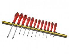 Schraubendreher Torx Set - 12-teilig inkl. Magnetleiste -Schraubenzieher Torx Satz - lebenslange Garantie