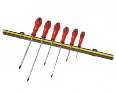 Magnetleiste inkl. Schraubendreher set - Schlitzschraubenzieher 6-teilig