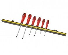 Magnetleiste inkl. Schraubendreher set - Schlitzschraubenzieher + Kreuzschraubenzieher