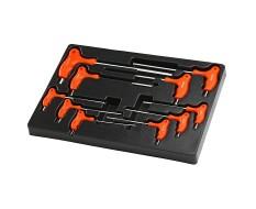 Torx t-griff + Imbusschlüssel-Satz 10-teilig in Werkzeugeinlage