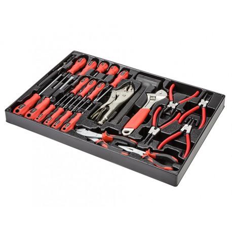 Schraubendreher & Zangensatz 24 teilig in Werkzeugeinlage