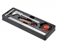 Messwerkzeug Set 5-teilig mit Lebenslange Garantie in Werkzeugeinlage