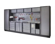 Komplette Werkstatteinrichtung ,Werkbank mit Metallbeschichtung - Werkstatt Set 392 x 200 cm. Lieferung in DE frei Haus.