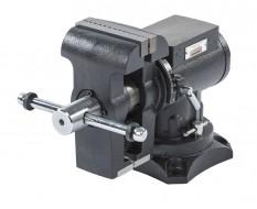 Mehrzweck-Schraubstock 125 mm drehbar - Drehteller - mit Amboss und 2 Rohraufnahmen