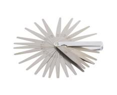 Fühlerlehre Satz 32-Blatt Stahl - 0.03 mm bis 1.0 mm - Fühlerlehren