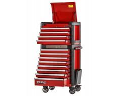 Profi Werkstattwagen Set rot 12 Schubladen