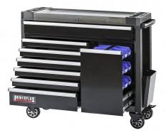 Werkstattwagen schwarz 7 Schubladen + Schublade mit Sichtlagerkästen 111 x 48 x 101 cm