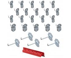Hakenset für Powerplustools Lochwand - Werkzeuglochwand Haken Set 25-teilig