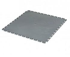 PVC Klick Fliesen grau 500 x 500 x 6 mm. Bodenfliesen für den industriellen Einsatz - Hammerschlag mit Anti-Rutsch-Profil