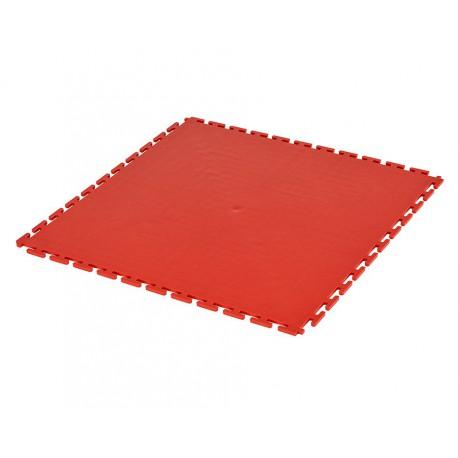 PVC Klick Fliesen rot 500 x 500 x 6 mm. Bodenfliesen für den industriellen Einsatz - Hammerschlag mit Anti-Rutsch-Profil