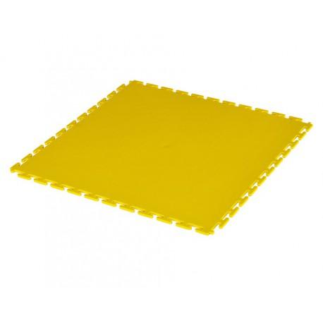 PVC Klick Fliesen gelb 500 x 500 x 6 mm. Bodenfliesen für den industriellen Einsatz - Hammerschlag mit Anti-Rutsch-Profil