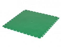 PVC Klick Fliesen grün 500 x 500 x 6 mm. Bodenfliesen für den industriellen Einsatz - Hammerschlag mit Anti-Rutsch-Profil