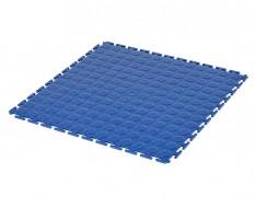 PVC Klick Fliesen blau 500 x 500 x 7 mm. Industrieller Werkstattboden mit runden Noppen