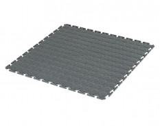 PVC Klick Fliesen grau 500 x 500 x 7 mm. Industrieller Werkstattboden mit runden Noppen