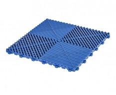 Klickfliesen offen blau 400 x 400 x 18 mm - Kunststoff Bodenfliese mit offener Struktur