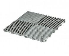 Klickfliesen offen grau 400 x 400 x 18 mm - Kunststoff Bodenfliese mit offener Struktur