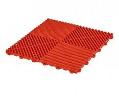 Klickfliesen offen rot 400 x 400 x 18 mm - Kunststoff Bodenfliese mit offener Struktur