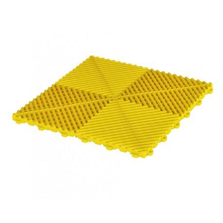 Klickfliesen offen gelb 400 x 400 x 18 mm - Kunststoff Bodenfliese mit offener Struktur