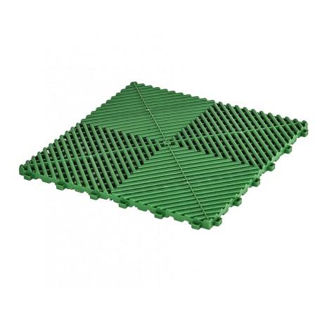 Klickfliesen offen grün 400 x 400 x 18 mm - Kunststoff Bodenfliese mit offener Struktur