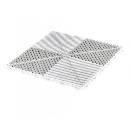 Klickfliesen offen weiß 400 x 400 x 18 mm - Kunststoff Bodenfliese mit offener Struktur