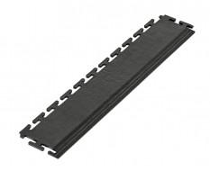 PVC Kantenleiste schwarz - Abschlussleiste 500 x 100 mm für industrielle PVC Klickfliesen
