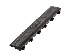 Kunststoff Kantenleiste schwarz - Abschlussleiste 400 x 60 mm für 1810 + 1813 Klickfliese type 1