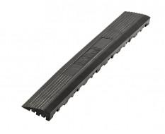 Kunststoff Kantenleiste schwarz - Abschlussleiste 400 x 60 mm für 1810 + 1813 Klickfliese type 2