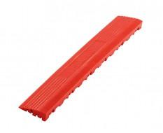 Kunststoff Kantenleiste rot - Abschlussleiste 400 x 60 mm für 1810 + 1813 Klickfliese type 2