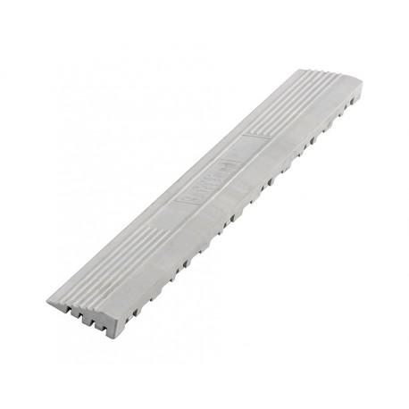 Kunststoff Kantenleiste weiß - Abschlussleiste 400 x 60 mm für 1810 + 1813 Klickfliese type 2