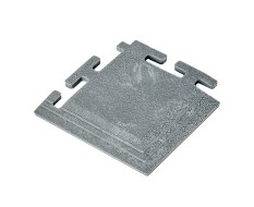 PVC Eckstück grau 100 x 100 x 6 mm. für industrielle PVC Klickfliesen