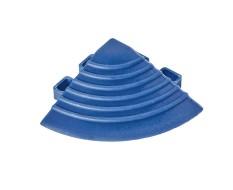 Kunststoff Eckstück blau - Endstück rund 60 x 60 x 18 mm. für 1810 + 1813 Klickfliese