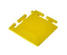 PVC Eckstück gelb 100 x 100 x 6 mm. für industrielle PVC Klickfliesen