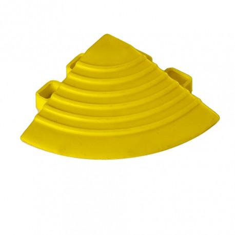 Kunststoff Eckstück gelb - Endstück rund 60 x 60 x 18 mm. für 1810 + 1813 Klickfliese