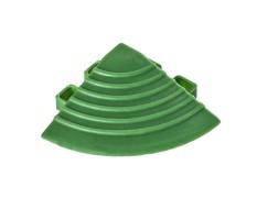 Kunststoff Eckstück grün - Endstück rund 60 x 60 x 18 mm. für 1810 + 1813 Klickfliese