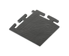 PVC Eckstück schwarz 100 x 100 x 6 mm. für industrielle PVC Klickfliesen