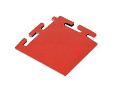 PVC Eckstück rot 100 x 100 x 6 mm. für industrielle PVC Klickfliesen