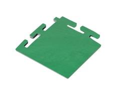 PVC Eckstück grün 100 x 100 x 6 mm. für industrielle PVC Klickfliesen