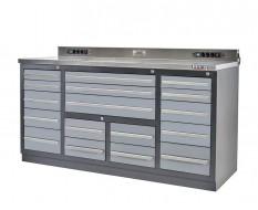 Profi Werkbank Heavy duty - Montagetisch 183 x 70 x 95 cm mit 17 Schubladen