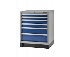 Werkzeugschrank mit 6 Schubladen Blau und Grau 72 x 57 x 90 cm
